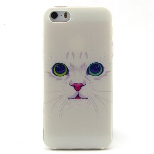 White Cat TPU Protective Case for iPhone 5 5s