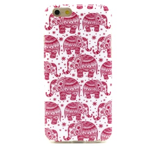 Soft IMD TPU Case for iPhone 6 - Red Elephants
