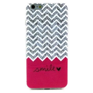 Soft IMD TPU Protective Case for iPhone 6 - Chevron and Smile