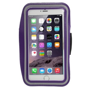 Running Sports Armband Pouch Shell for iPhone 6 Plus / 6s Plus, Size: 160 x 85mm - Purple