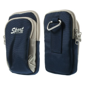 Universal Dual-layer Sports Bag Pouch for iPhone 7 6 / Samsung Alpha G850F Etc, Size: 15.3 x 9cm - Blue