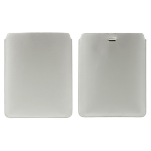 White Universal Pull Tab Leather Pouch Sleeve for iPad Air 2 / Samsung Galaxy Tab 8.9 P7300 Etc, Size: 24.5 x 19cm