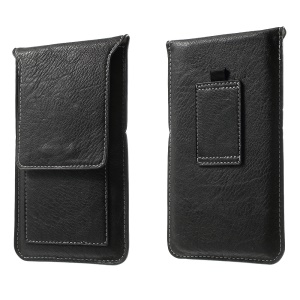 Leather Phone Pouch with Card Slots for iPhone 6 Plus / 6s Plus - Black