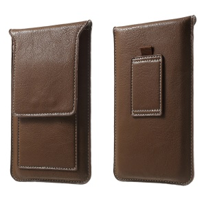 Leather Phone Pouch with Card Slots for iPhone 6 Plus / 6s Plus - Brown