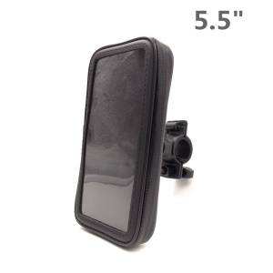Bicycle Handlebar Mount Waterproof Universal Case for iPhone 6 Plus / 6s Plus, Inner Size: 158 x 78mm - Black