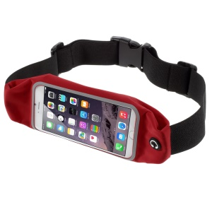 Touch Screen Running Belt Waist Bag for iPhone 7 Plus / 6s Plus 5.5, Size: 165 x 85mm - Red