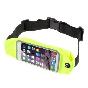 Touch Screen Running Sports Waist Belt Bag for iPhone 6s Plus / 7 Plus 5.5, Size: 165 x 85mm - Green