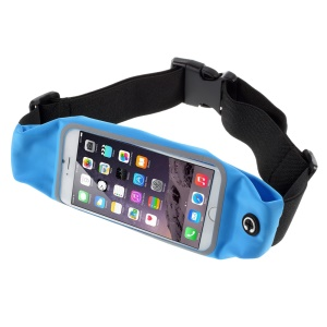 Touch Screen Sports Waist Belt Bag for iPhone 6s Plus / Galaxy Note5, Size: 165 x 85mm - Blue