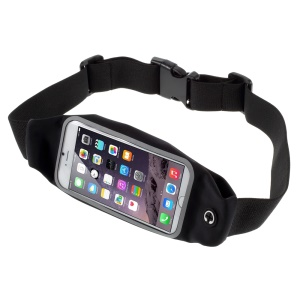 Touch Screen Running Belt Waist Pack Bag for iPhone 7 6 6s 4.7, Size: 149 x 75mm - Black