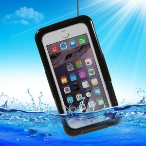 IP-68 Waterproof Dustproof Shockproof Case for iPhone 6 4.7 inch - Black