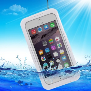 IP-68 Waterproof Dustproof Shockproof Case for iPhone 6 4.7 inch - White