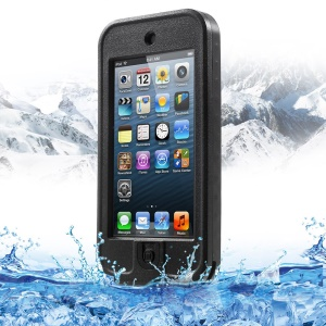 REDPEPPER for iPod Touch 5 Waterproof Plastic Shell with Stand - Black