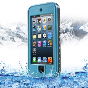 REDPEPPER for iPod Touch 5 Waterproof Plastic Cover with Stand - Blue