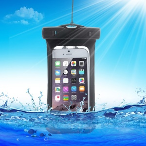 V3 Waterproof Armband TPU Bag Case for iPhone Samsung Sony, size: (15.3 x 8)CM - Black