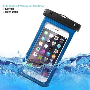V1 Waterproof Bag with Strap for iPhone 6 6s 4.7-inch, 75mm x 150mm - Blue