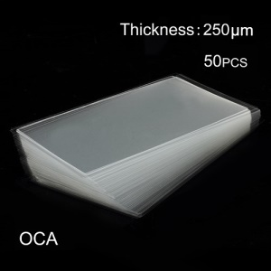 50pcs OCA Optical Clear Adhesive Double-side Sticker for iPhone 6 LCD Digitizer, Thickness: 0.25mm