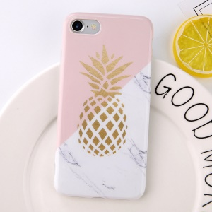 Marble Pineapple Pattern Soft TPU Shockproof Back Phone Case for iPhone 6/6s