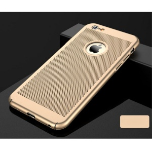 Hollow Mesh Heat Dissipation Matte PC Case Cover for iPhone 6s Plus / 6 Plus 5.5 inch - Gold