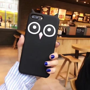 Lovely Owl Pattern Soft Silicone Case for iPhone 6s 6 - Black