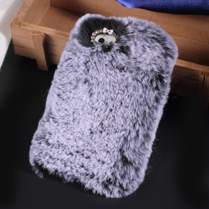 Soft Fur Coated TPU Mobile Phone Case for iPhone SE/5s/5 - Grey