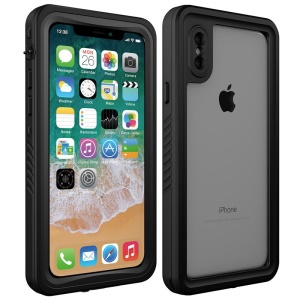 reputable site 82950 4eca7 Purchased IP68 Waterproof Mobile Case Dirt/Dust/Snow Proof Cover for iPhone  X/10 - Black + Grey