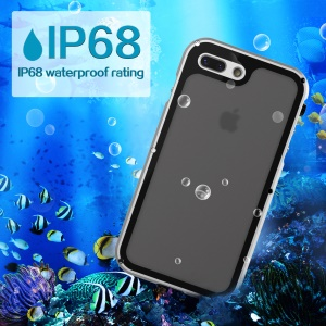 VIKING Aluminum Alloy IP68 Waterproof Dust-proof Shock-proof Cell Phone Case for iPhone 8 Plus/7 Plus - Silver