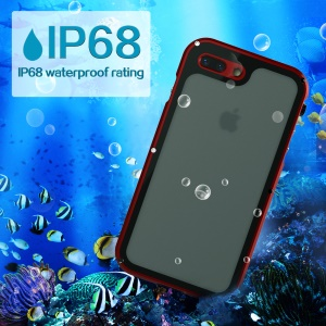 VIKING Aluminum Alloy IP68 Waterproof Dust-proof Shock-proof Aluminum Alloy Mobile Cover for iPhone 8 Plus/7 Plus - Red
