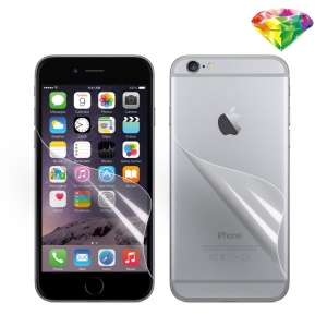 Front & Rear 4H Diamond PET Screen Guard Protector Film for iPhone 6s 6