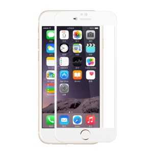ROCK for iPhone 6 6s 2.5D 0.3mm Tempered Glass Full Screen Protector Film (Arc Edge) - White