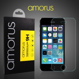 AMORUS Anti-explosion Tempered Glass Screen Protector for iPhone SE 5s 5 Arc Edge