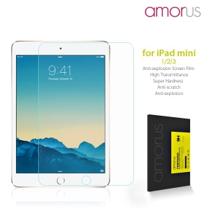 AMORUS Anti-explosion Tempered Glass Screen Guard for iPad mini 3 2 1 Arc Edge