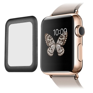 LINK DREAM 0.2mm Tempered Glass Screen Film for Apple Watch 38mm Full Coverage - Black
