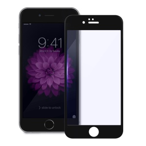 DEVIA Anti-blu-ray Tempered Glass Screen Protector for iPhone 6s Plus / 6 Plus Complete Covering Arc Edge - Black