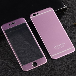 ENKAY 0.26mm 9H Tempered Glass Screen Film for iPhone 6s Plus / 6 Plus 2.5D Full Coverage (Front + Rear) - Pink