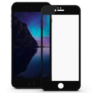 DEVIA for iPhone 6s Plus / 6 Plus Complete Covering Tempered Glass Screen Guard Explosion-proof Arc Edge - Black