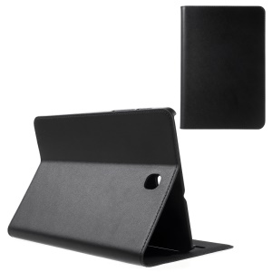 DOORMOON Genuine Leather Flip Case for Samsung Galaxy Tab S2 8.0 T715 T710 - Black
