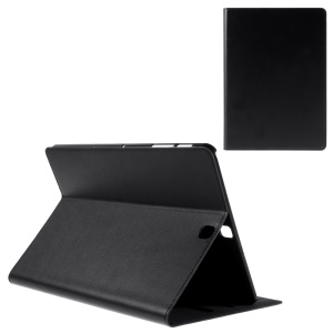 DOORMOON Genuine Leather Cover Case for Samsung Galaxy Tab S2 9.7 T810 T815 - Black