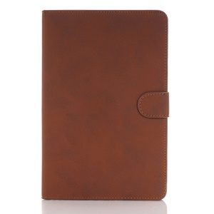 Retro Style Leather Case Stand Cover for iPad mini 4 - Brown