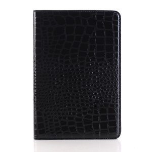 Crocodile Texture Leather Flip Cover Wallet Case for iPad mini 4 - Black