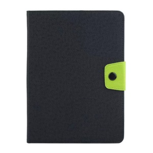 Contrast Color Wallet Leather Case for Samsung Galaxy Tab A 8.0 T350 - Black