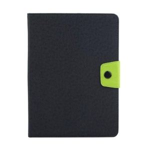 Contrast Color Card Holder Leather Cover for Samsung Galaxy Tab A 9.7 T550 T555 - Black