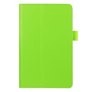 Litchi Texture PU Leather Stand Cover for Amazon Fire 7 - Green