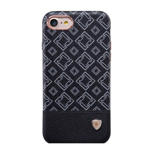 NILLKIN Oger Lattice Leather Coated Hard Case for iPhone 7 - Black