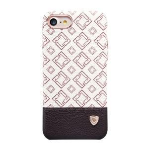 NILLKIN for iPhone 7 Lattice Leather Skin Hard Back Case - Brown