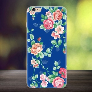 Softly Embossed TPU Shell Case para iPhone 6s Plus / 6 Plus - flor rosas