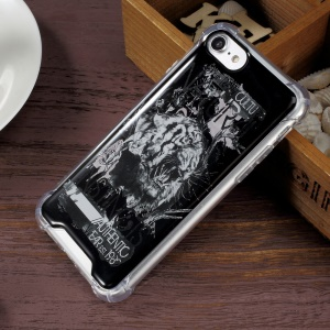 Epoxy Hybrid Scratch-proof  Drop Protection Cell Phone Case for iPhone 7 4.7 inch (PC + Bayer 3695TPU) - Tiger