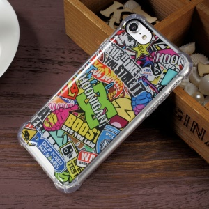 Epoxy Anti-scratch PC + Bayer 3695 TPU Hybrid Phone Accessory Shell for iPhone 7 4.7 inch - Fashion Elements
