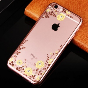 Rose Gold / Yellow Flowers