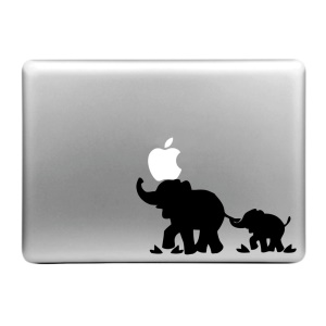 "ENKAY Decal Sticker for Macbook Air / Pro 11"" 13"" 15"" - Elephant Pattern"