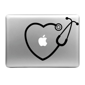 "Hat Prince Decal Sticker for Macbook Air / Pro 13"" 15"" - Heart-shape Echometer Pattern"